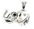 sterling silver elephant pendant WEP0627