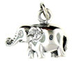 sterling silver elephant pendant WEP0640