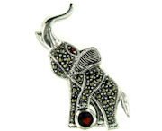 sterling silver elephant brooch pin WEPN170