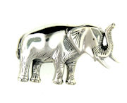 sterling silver elephant brooch pin WEPN71