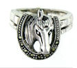 sterling silver horse ring WHRM28