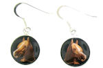 sterling silver horse earrings style WLHE1145
