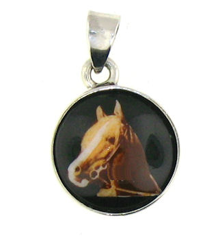WLPD678 Horse Pendant ENLARGED