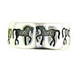 sterling silver horse ring WLR226