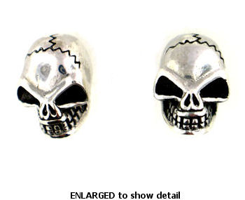 model WSE1082 skull earrings enlarged view
