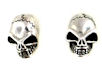 sterling silver skull earrings WSE1082