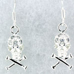 Model WSE1211 skull earrings