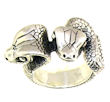 sterling silver snake ring style WSR657