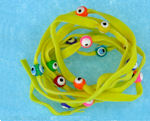 Evil Eye 11465 bracelet yellow with mixed eyes