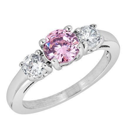 ZRJ4146 October CZ Birthstone Ring